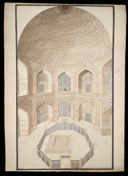 Interior of the Taj Mahal, Agra, showing the cenotaphs 1768